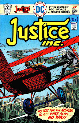 Justice Inc. v1 #4 dc bronze age comic book cover art by Joe Kubert