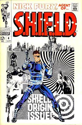 Nick Fury Agent of Shield v1 #4 1960s marvel comic book cover art by Jim Steranko