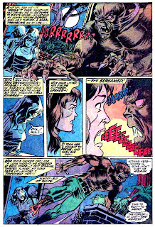 Werewolf by Night v1 #1 marvel comic book page art by Mike Ploog