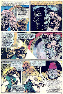 Werewolf by Night v1 #14 marvel comic book page art by Mike Ploog