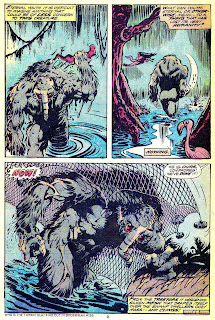 Man-Thing v1 #7 marvel 1970s bronze age comic book page art by Mike Ploog