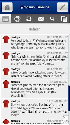 twitter app on silverlight