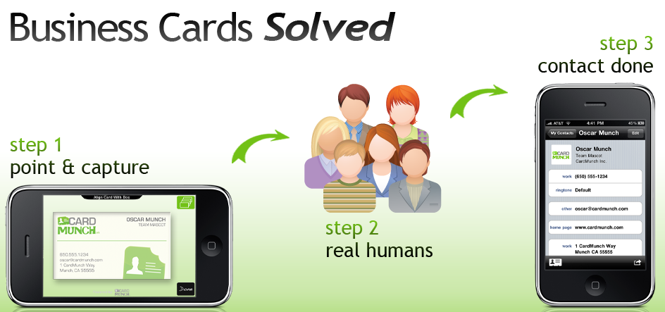 Card munch iphone app converts business cards to contacts for Business card iphone app