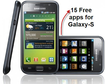 Samsung Galaxy-S Apps.
