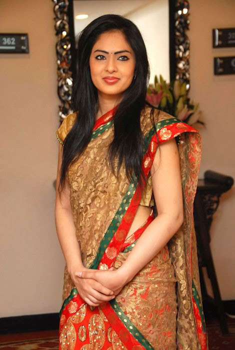 kp actre nikesha patel in traditional dress