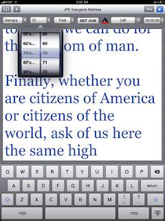 speechprompter iPad app