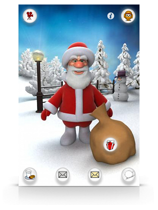 free Talking santa app for android
