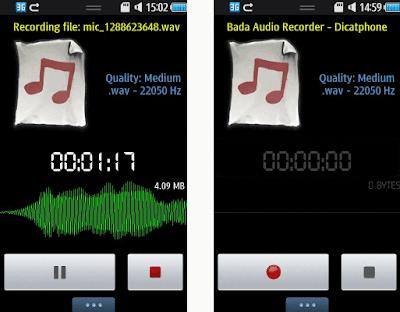 WavRecorder App for BADA