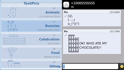 textpics app for blackberry