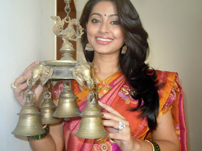 Sneha in saree for pongal festival