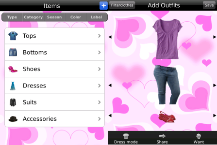 My Fashion BlackBerry App