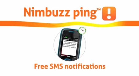 nimbuzz ping with free sms notification