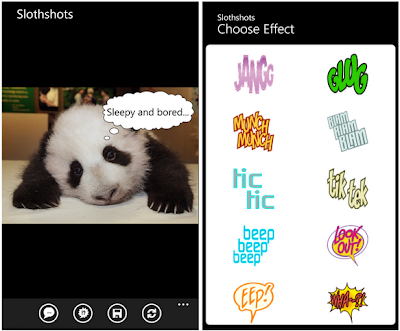slothshots app for WP7