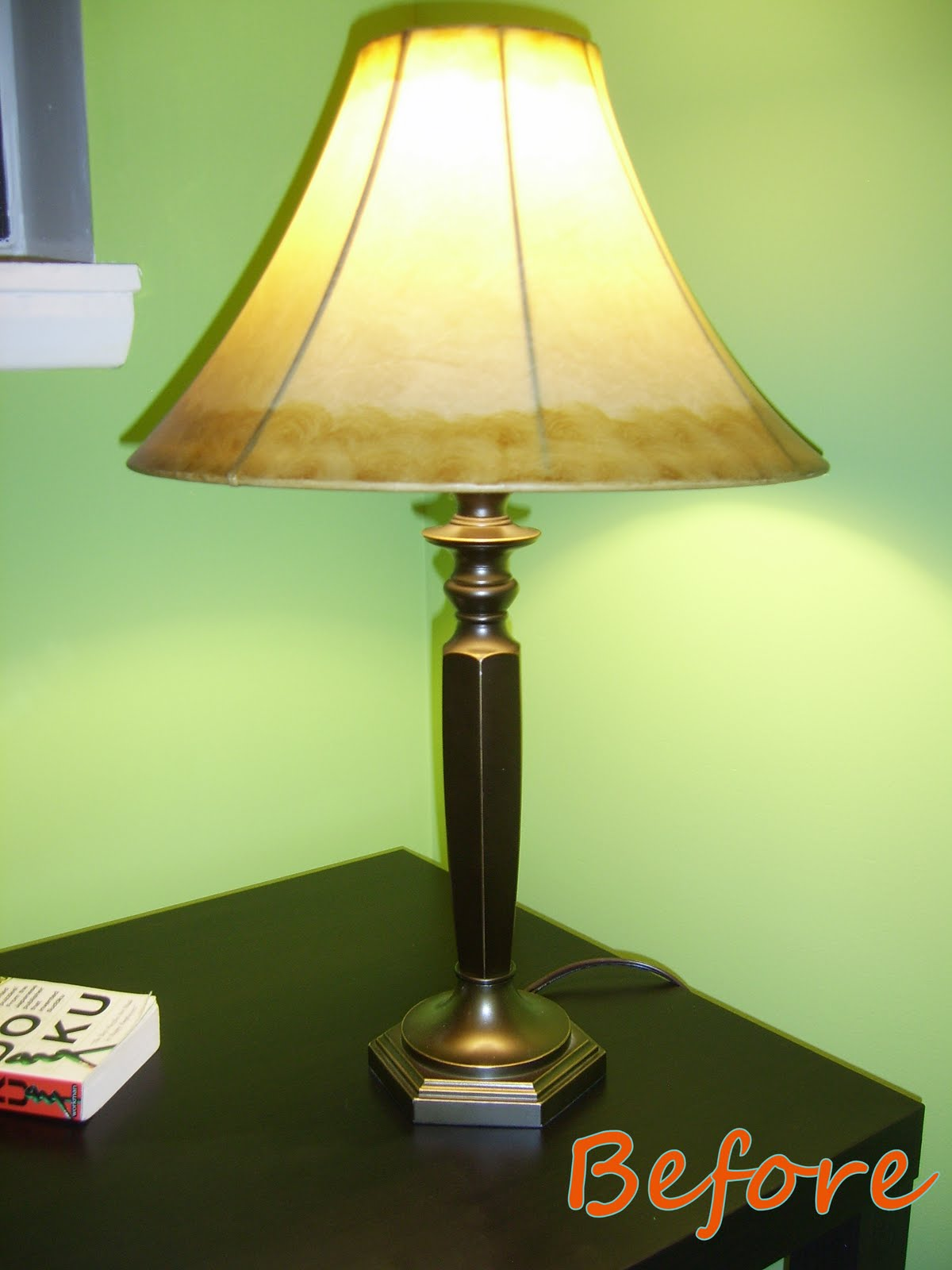 of glossy red paint and a lamp shade i found on clearance at target