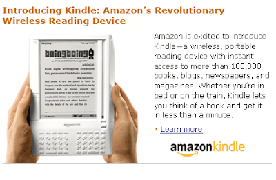 Amazon Kindle and BoingBoing