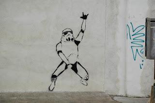 Stormtrooper stencil graffiti