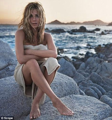 Doesn't she look Lolavie: Jennifer Aniston strikes a sultry pose as she