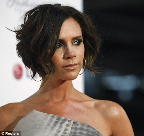bedhead hairstyle. Bed-head chic: Victoria Beckham showed off a new choppy, layered style at