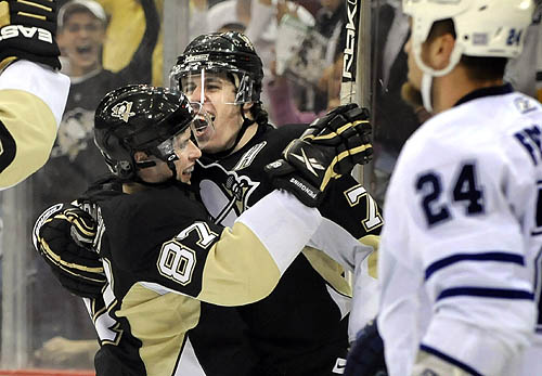 Crosby and Malkin share benchmark game (Saturday, October 18, 2008)