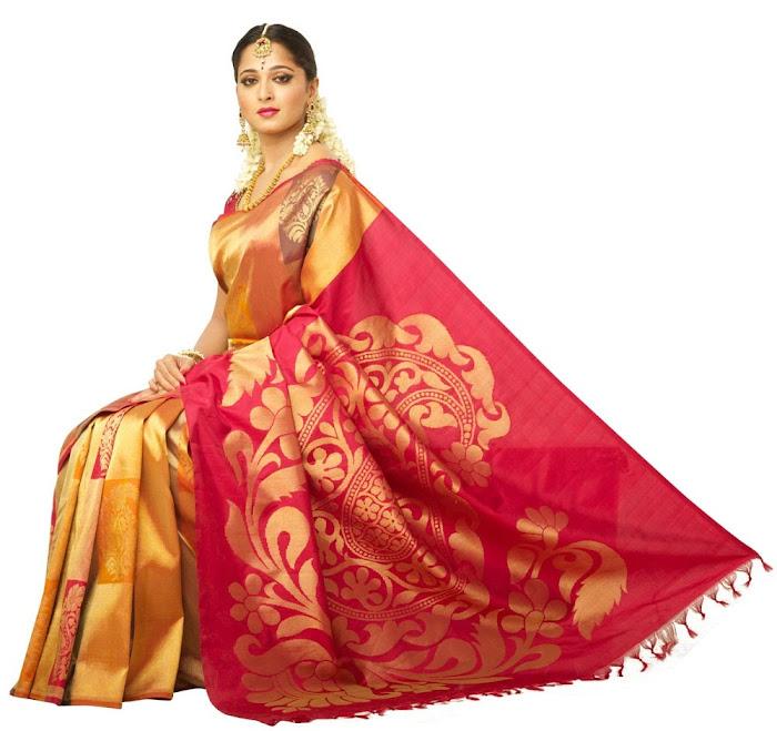 anuska in chennai silks ad hot photoshoot