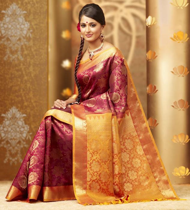 anuska in chennai silks ad latest photos