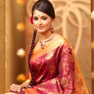 anuska in chennai silks ad actress pics