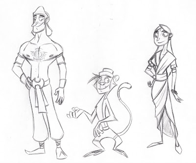 These are the characters from the story ramayana story idea from the short sita and the blues this is a cartoon version im leaning towards