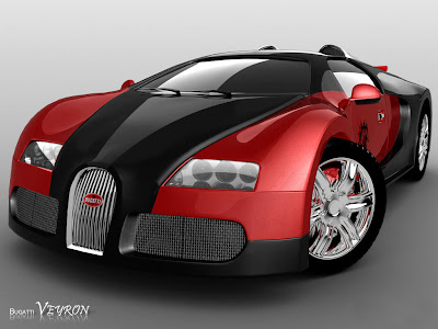 new bugatti veyron red black