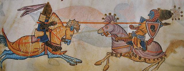 Cavaleiro cristão contra muçulmano