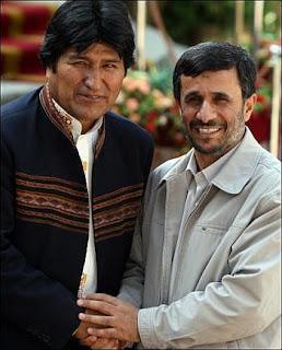 Evo recebido por Ahmadinejad em Teerã