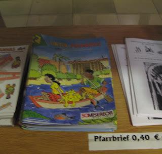 Revistinha para coletar fundos para a Revolução Quilombola vendida em igrejas da Alemanha, foto de 19-02-2008