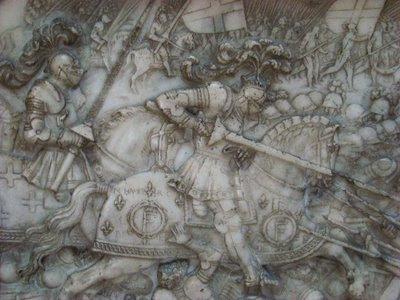 Bayard assiste o rei Francisco I na vitória de Marignano
