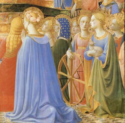 Coroação de Nossa Senhora, Fra Angélico, detalhe