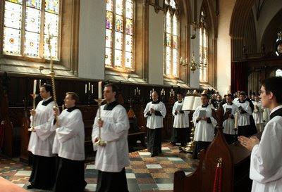 Merton Chapel, Missa em latim, procissão de entrada ©Fr Lawrence OP