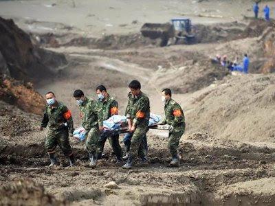 Derrumbamento em Xianfeng
