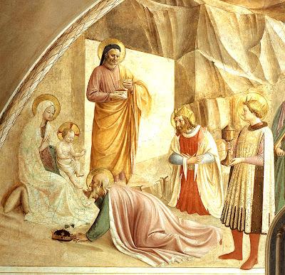 Adoração dos Reis Magos. Beato Angelico