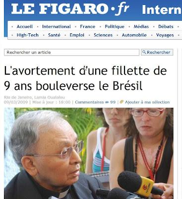Le Figaro, Paris, 9 de março de 2009