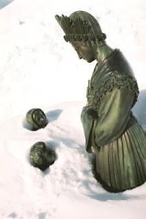 La Salette , imagens cobertas de neve