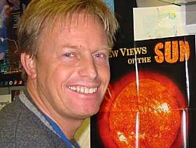 Dr. Pal Brekke, físico solar, do Norwegian Space Centre em Ohio:
