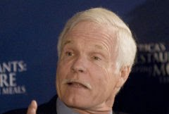 Ted Turner, bilhonrio fundador da CNN: