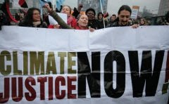 """Climate justice now!"""