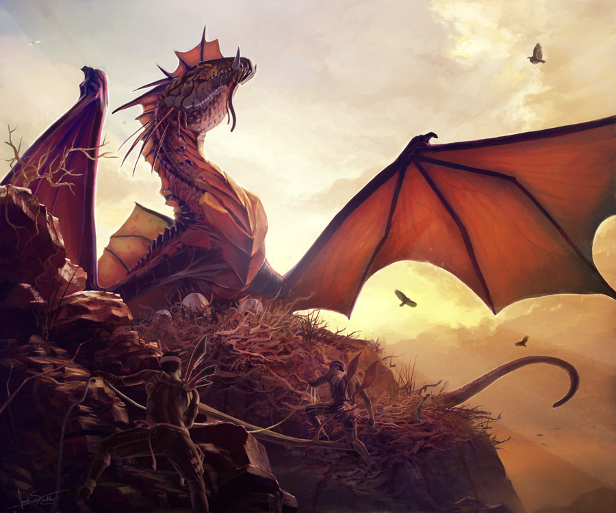 Dragons lair images gallery dragon mother dragon protecting her