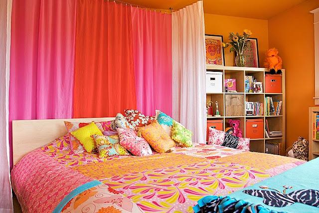 Room baby dazzle teen room orange pink makeover - Orange and pink bedroom ideas ...
