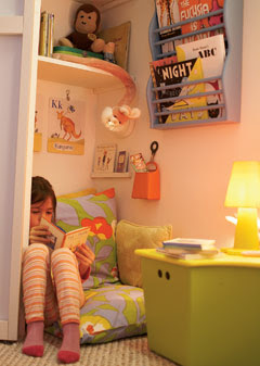 Home sweet home reading nooks for kids for Childrens closet