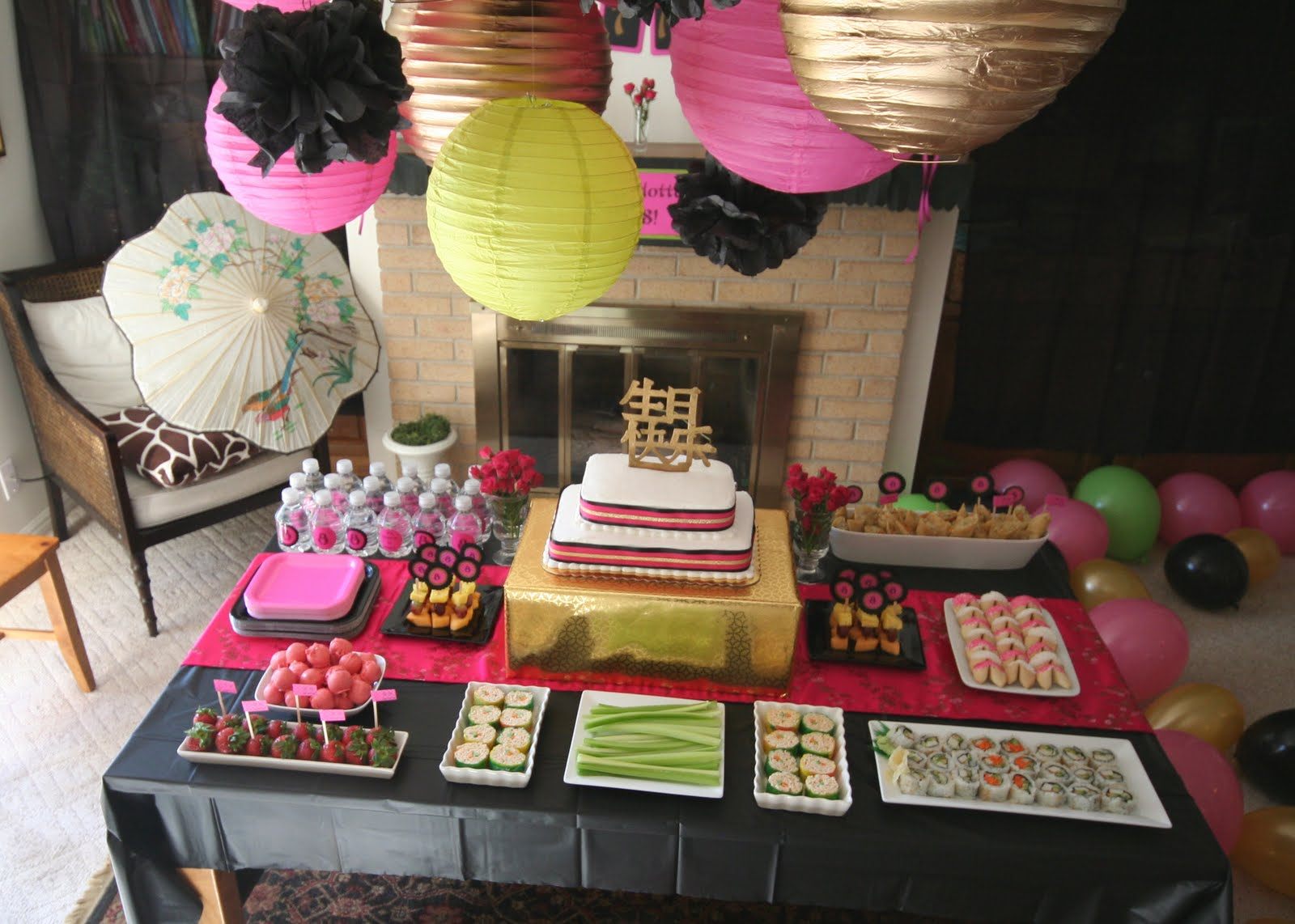 Chinese themed birthday party design dazzle for Asian party decoration