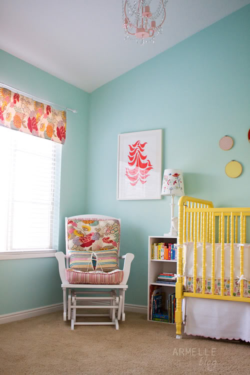 Yellow Aqua amp Red Baby Nursery Design Dazzle