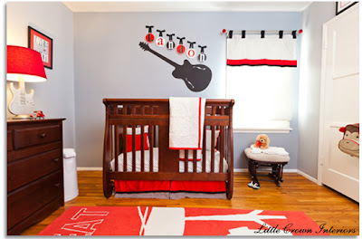 Rocking Baby Crib on Rock And Roll Theme Accessories Make This Nursery Design A Rock And