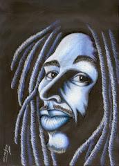 Bob Marley's portrait