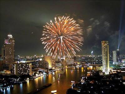 New Year in Bangkok, Thailand