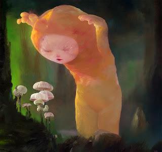 The Mushroom Hunter - Joe Sorren painting